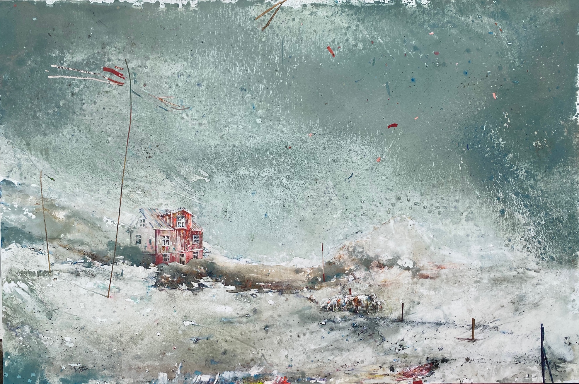 Tempête à l'ouest Peinture