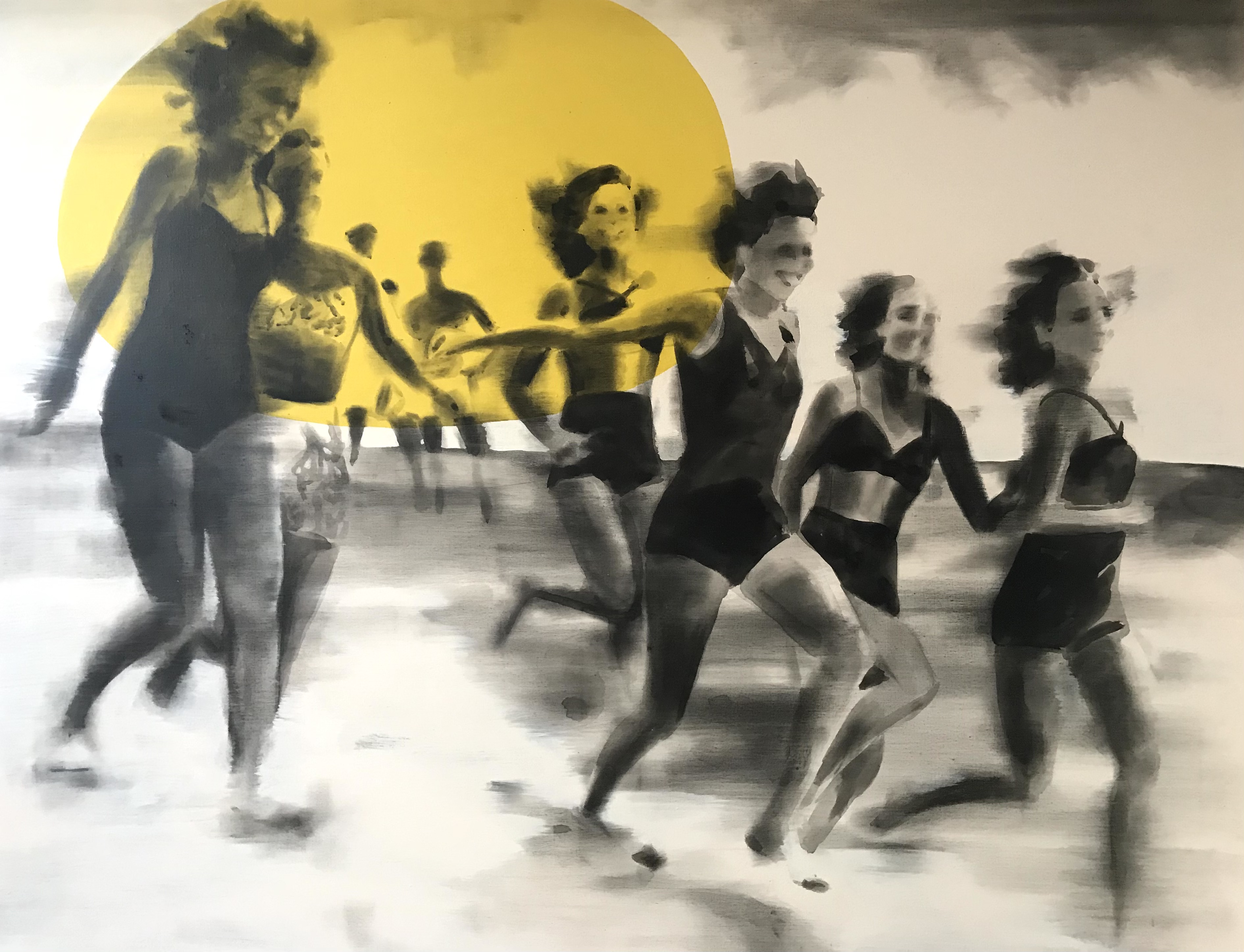 Les filles sur la plage Peinture