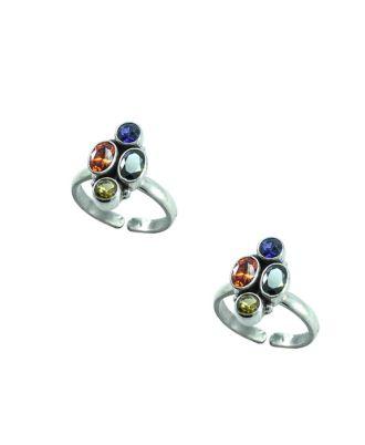 Silver Designer Toe Rings