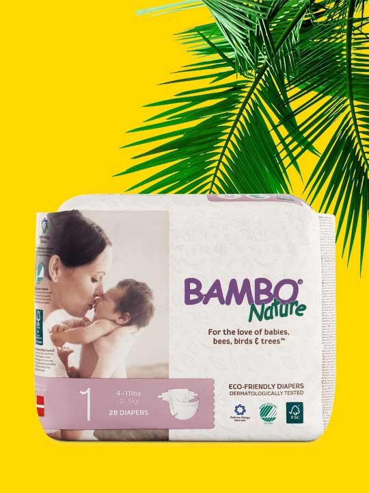 Couches ultra-absorbantes Bambo Nature pour bébé. Livraison gratuite au Québec et en Ontario