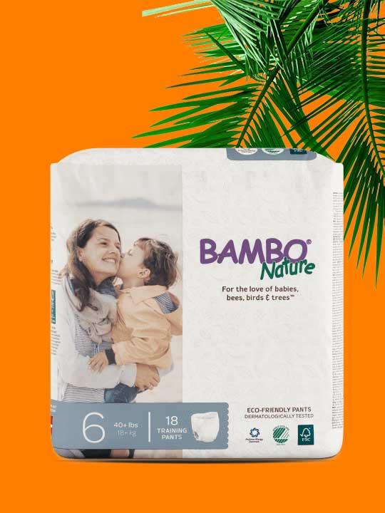 Culotte d'entraînement écoresponsables Bambo Nature pour l'apprentissage de la propreté. Livraison gratuite au Québec et en Ontario