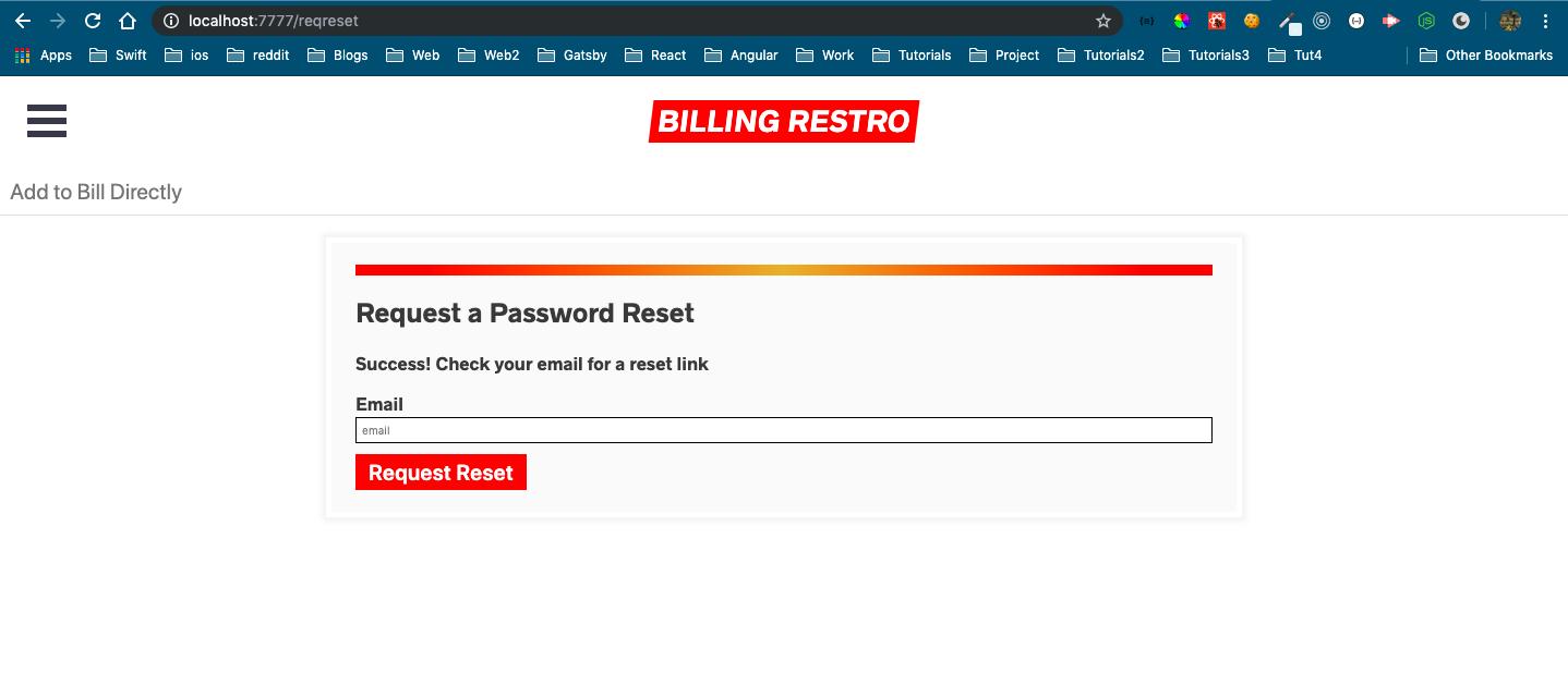 Password reset successful