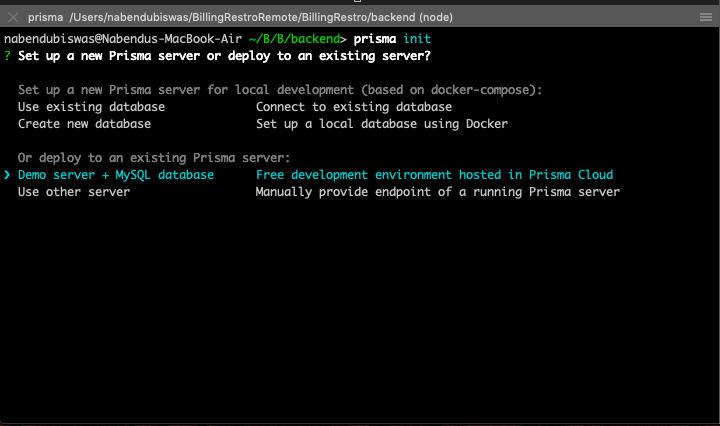Select Demo Server