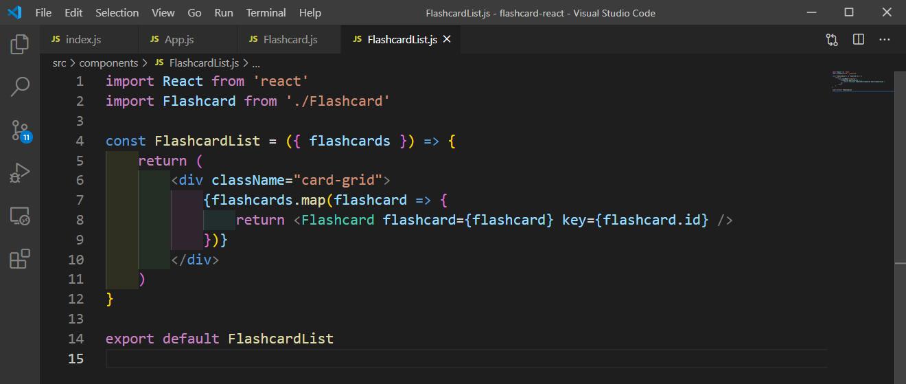 FlashcardList.js