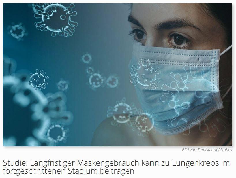 Studie: Langfristiger Maskengebrauch kann zu Lungenkrebs im fortgeschrittenen Stadium beitragen