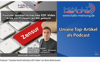 """Podcast: """"Youtube löscht kritisches ZDF-Video"""" von Boris Reitschuster"""
