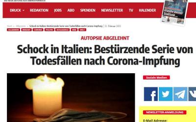 Schock in Italien: Bestürzende Serie von Todesfällen nach Corona-Impfung