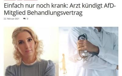 Einfach nur noch krank: Arzt kündigt AfD-Mitglied Behandlungsvertrag
