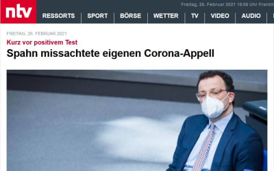 Spahn missachtete eigenen Corona-Appell