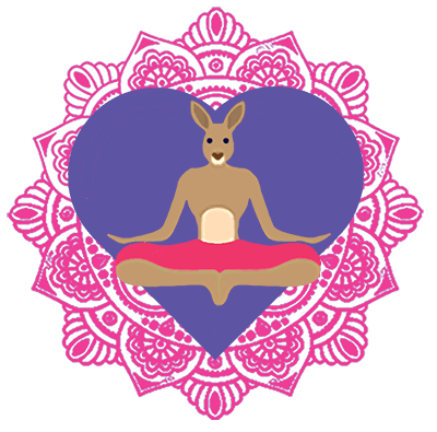Yoga Roo love heart icon