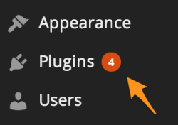 Example of available plugins in WordPress admin