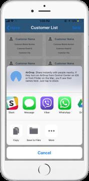 share customer details