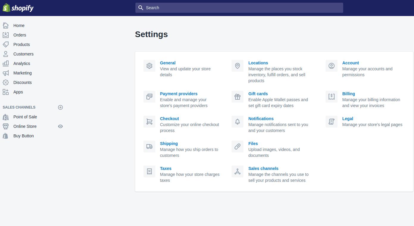 taxes-settings