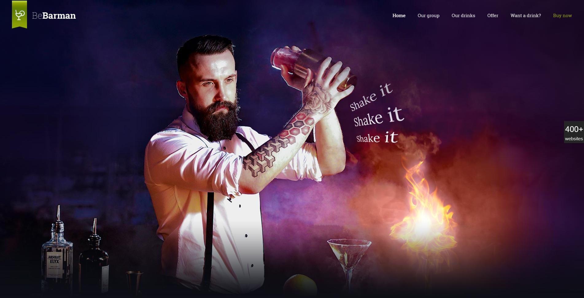 Bartender Website