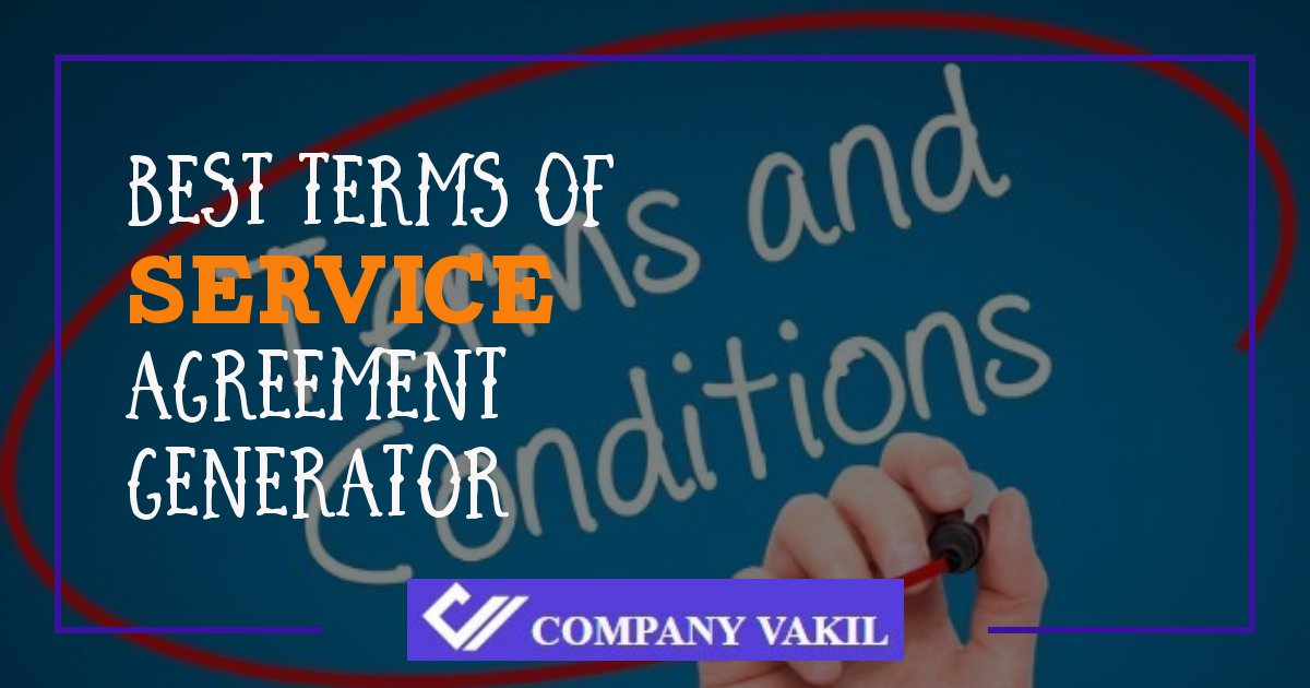 terms and conditions for service agreement for it company