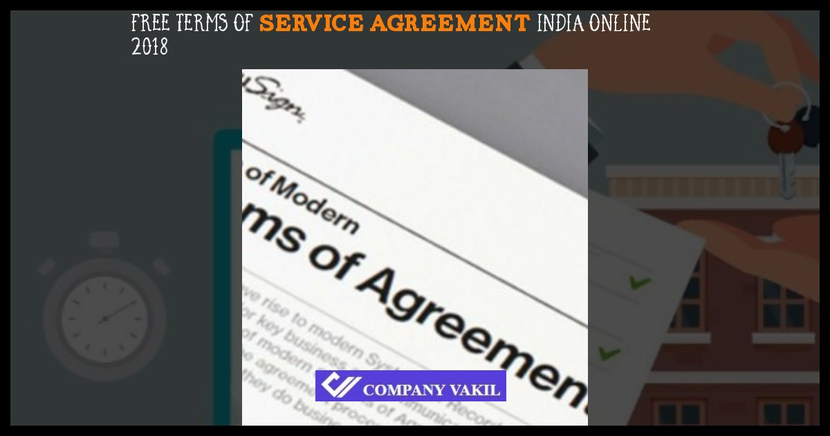 long term service agreement template India