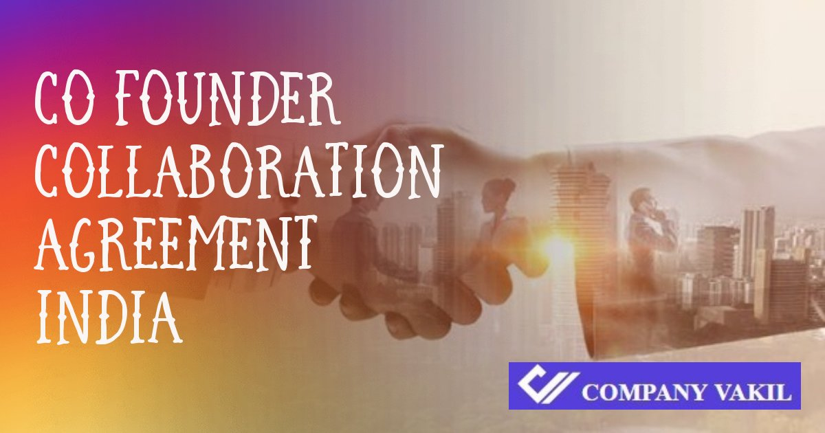 co founder agreement sample online india
