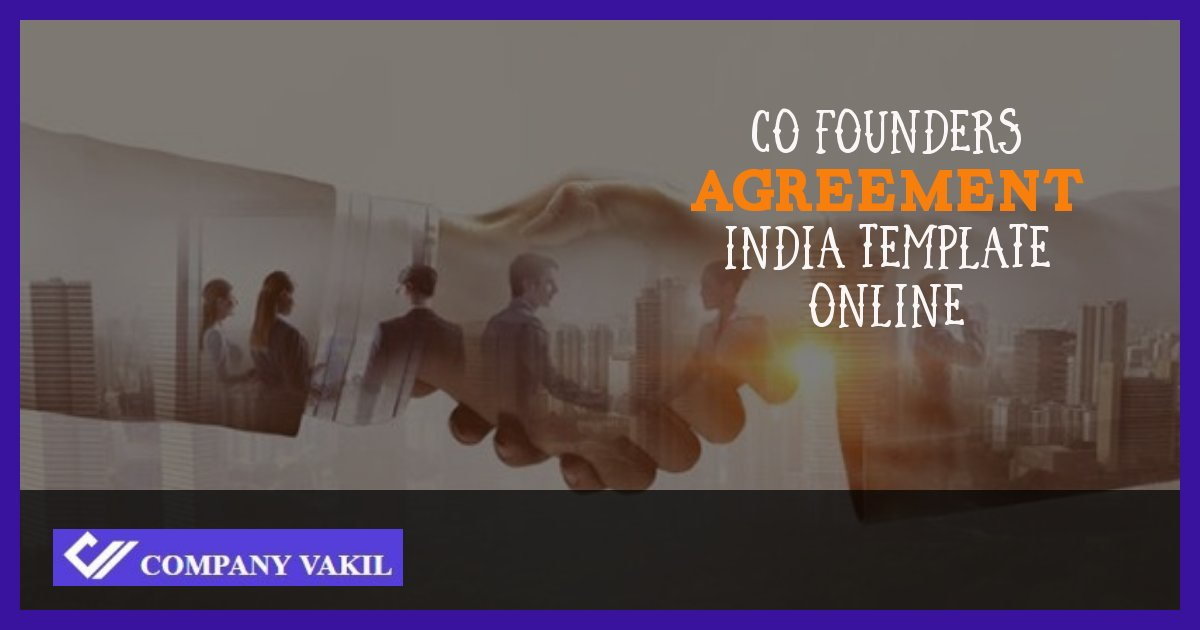 co founders agreement india template online