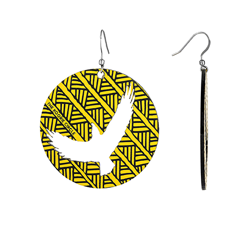 Bunjil - The Eagle - Earrings (Yellow)
