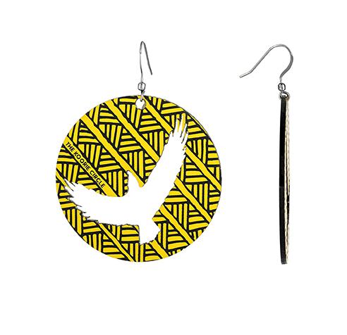 Bunjil - The Eagle - Earrings (Yellow)