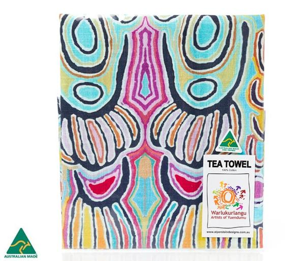 Colourful Aboriginal Art Judy Watson Tea Towel