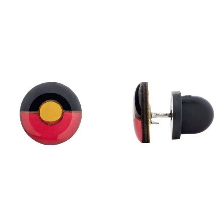 Aboriginal Flag - pin or brooch