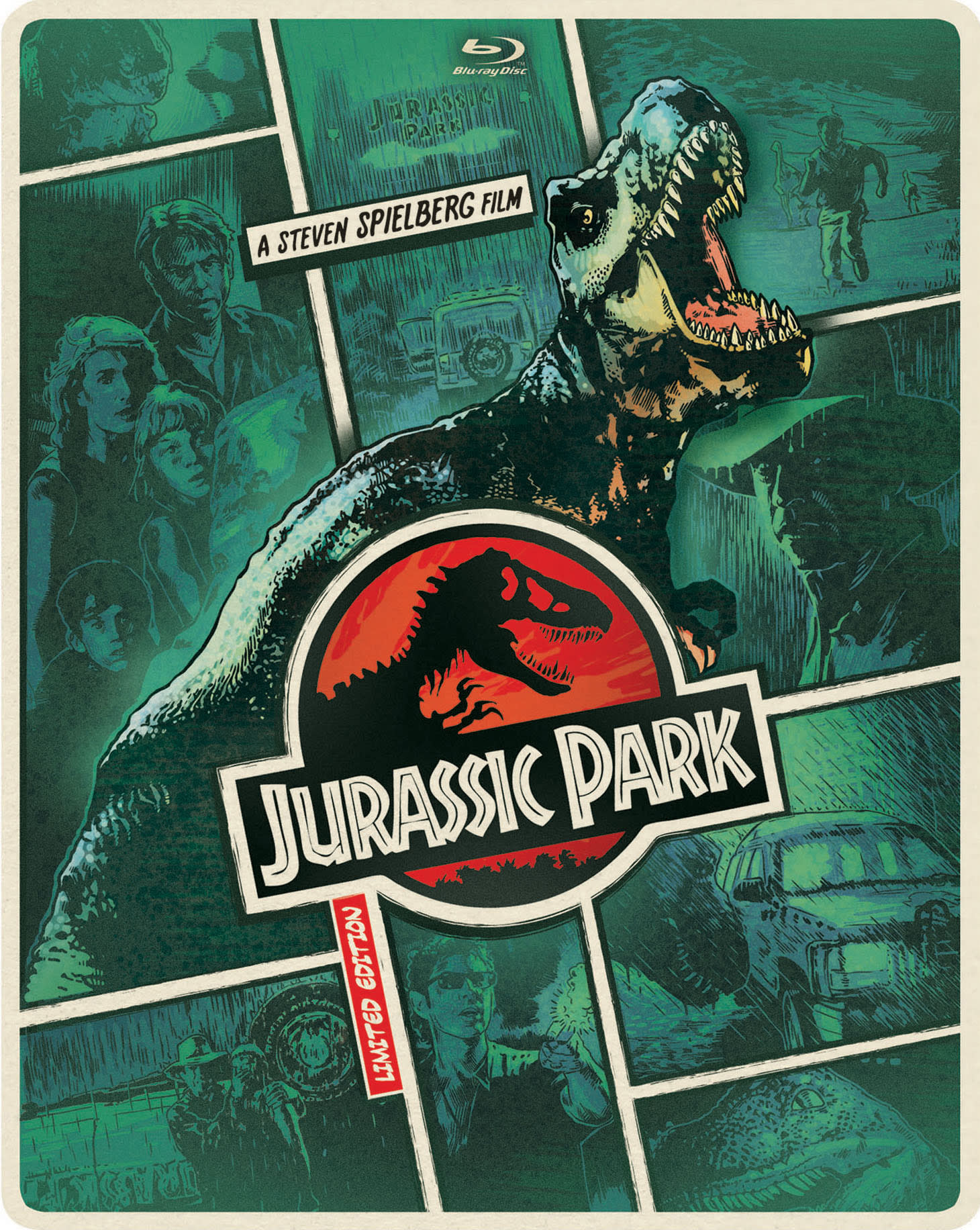 Jurassic Park (Limited Edition Steelbook DVD + Digital + Ultraviolet) [Blu-ray]