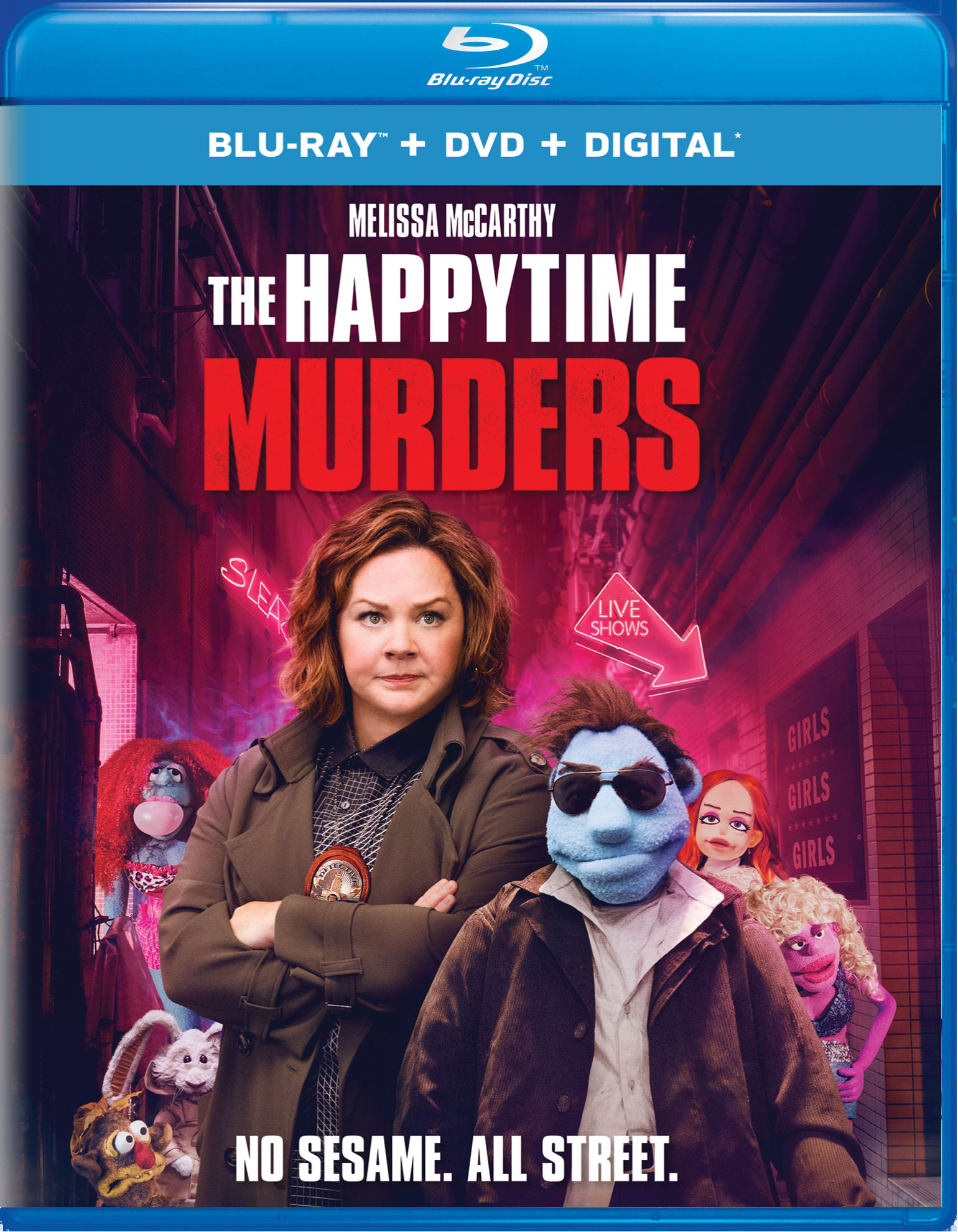The Happytime Murders (DVD + Digital) [Blu-ray]