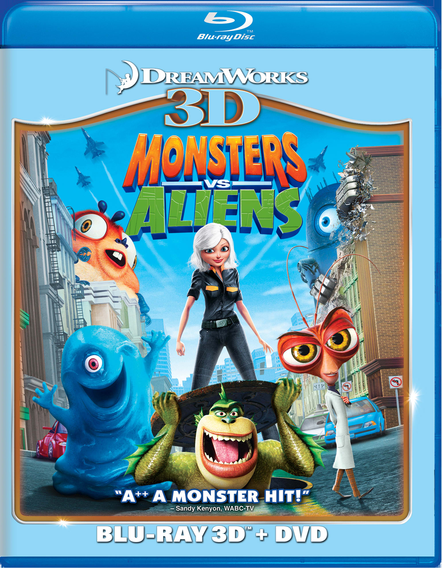 Monsters Vs Aliens 3D (Combo Pack) [Blu-ray]