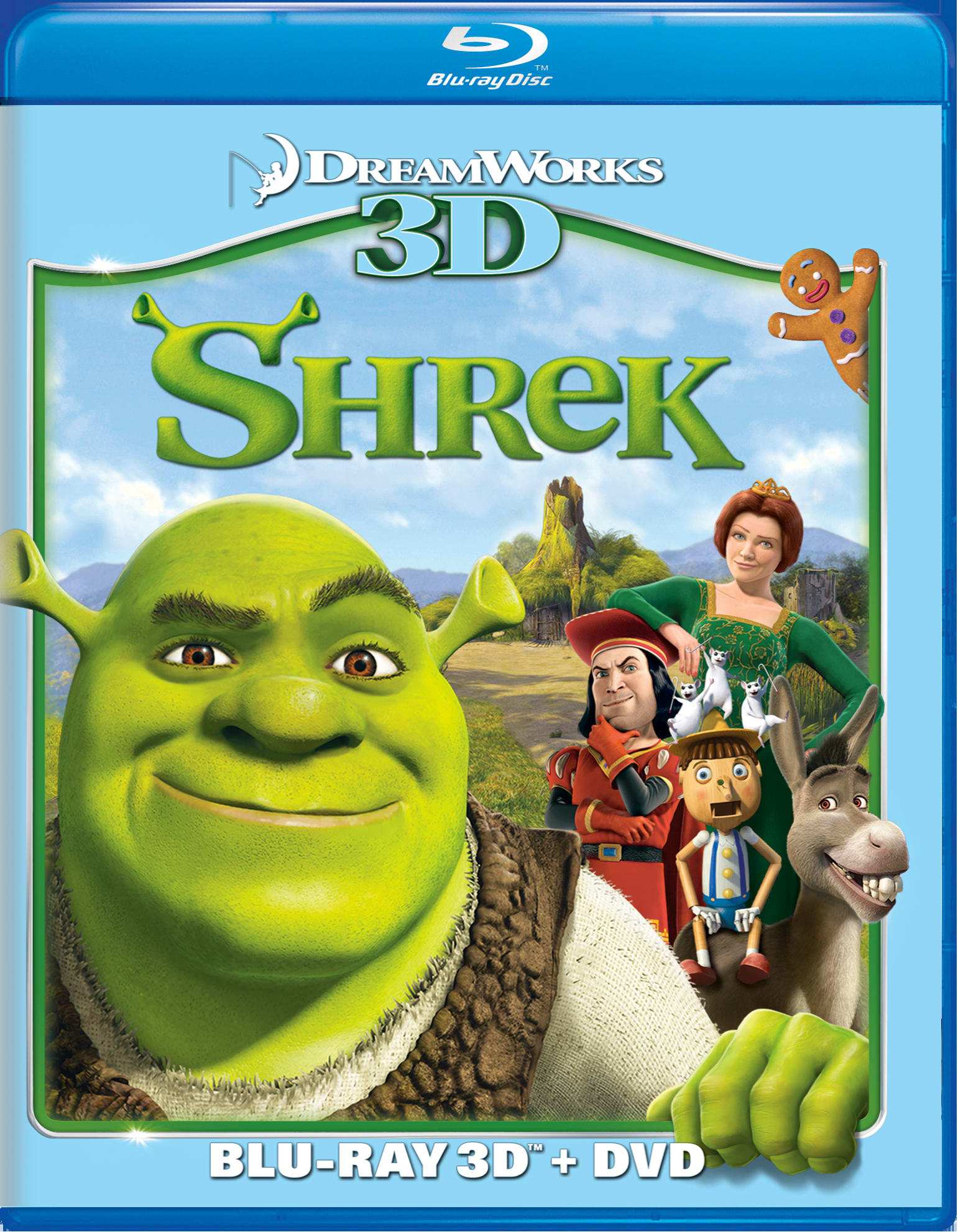 Shrek 3D (DVD + Digital) [Blu-ray]