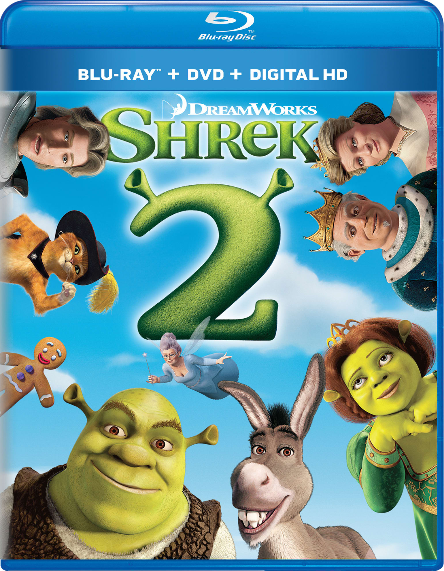 Shrek 2 (DVD + Digital) [Blu-ray]