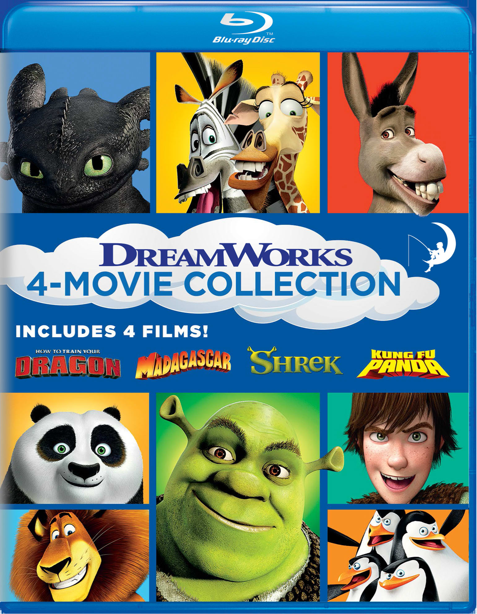 How to Train Your Dragon/Madagascar/Shrek/Kung Fu Panda [Blu-ray]