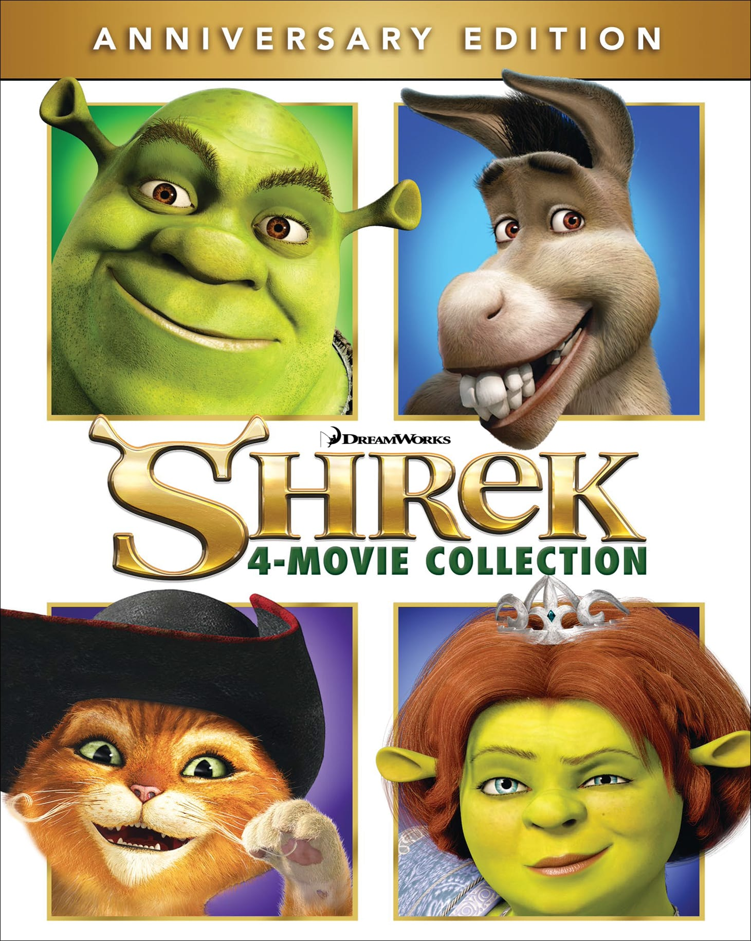 Shrek: The 4-movie Collection (Anniversary Edition) [Blu-ray]
