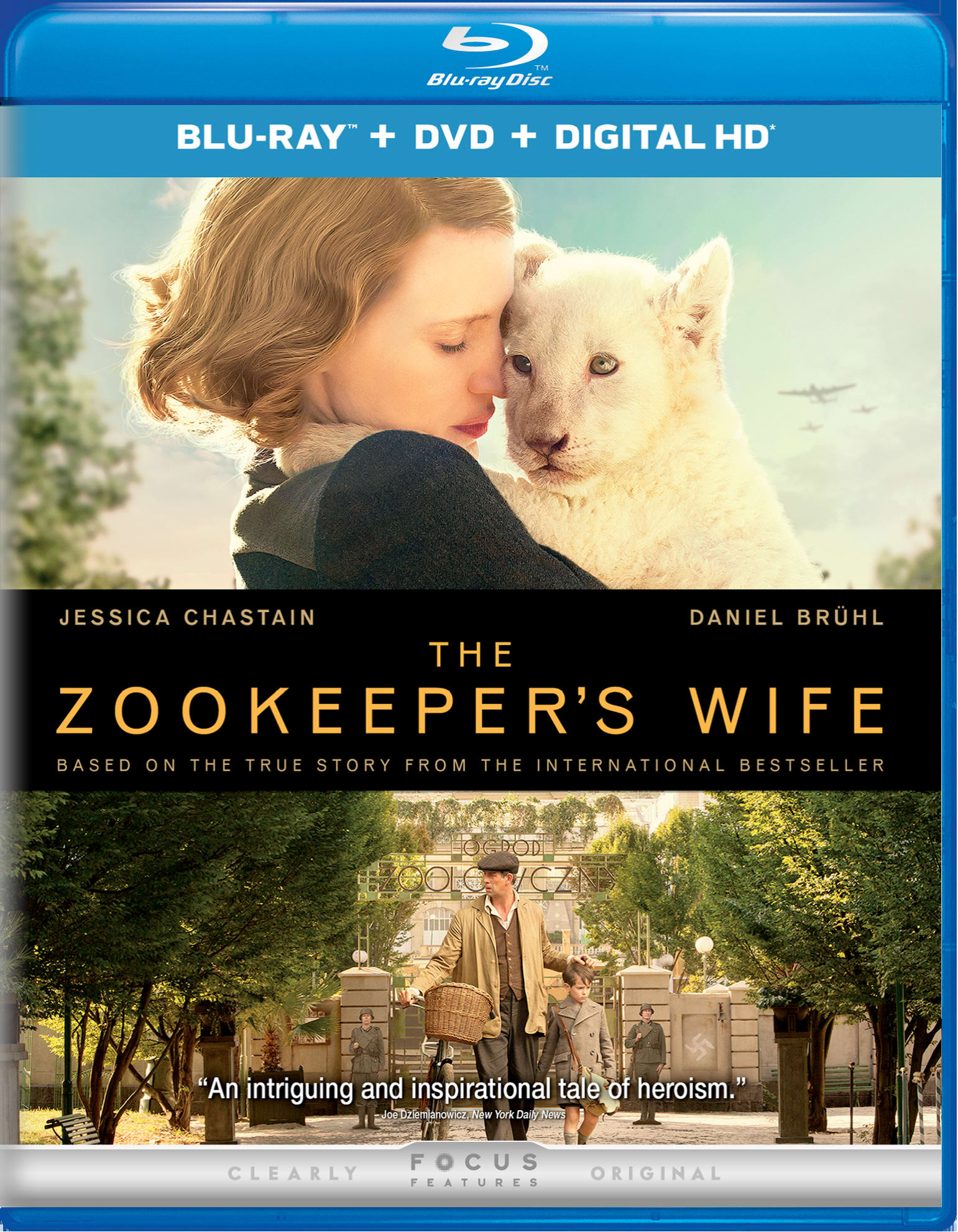 The Zookeeper's Wife (DVD + Digital) [Blu-ray]
