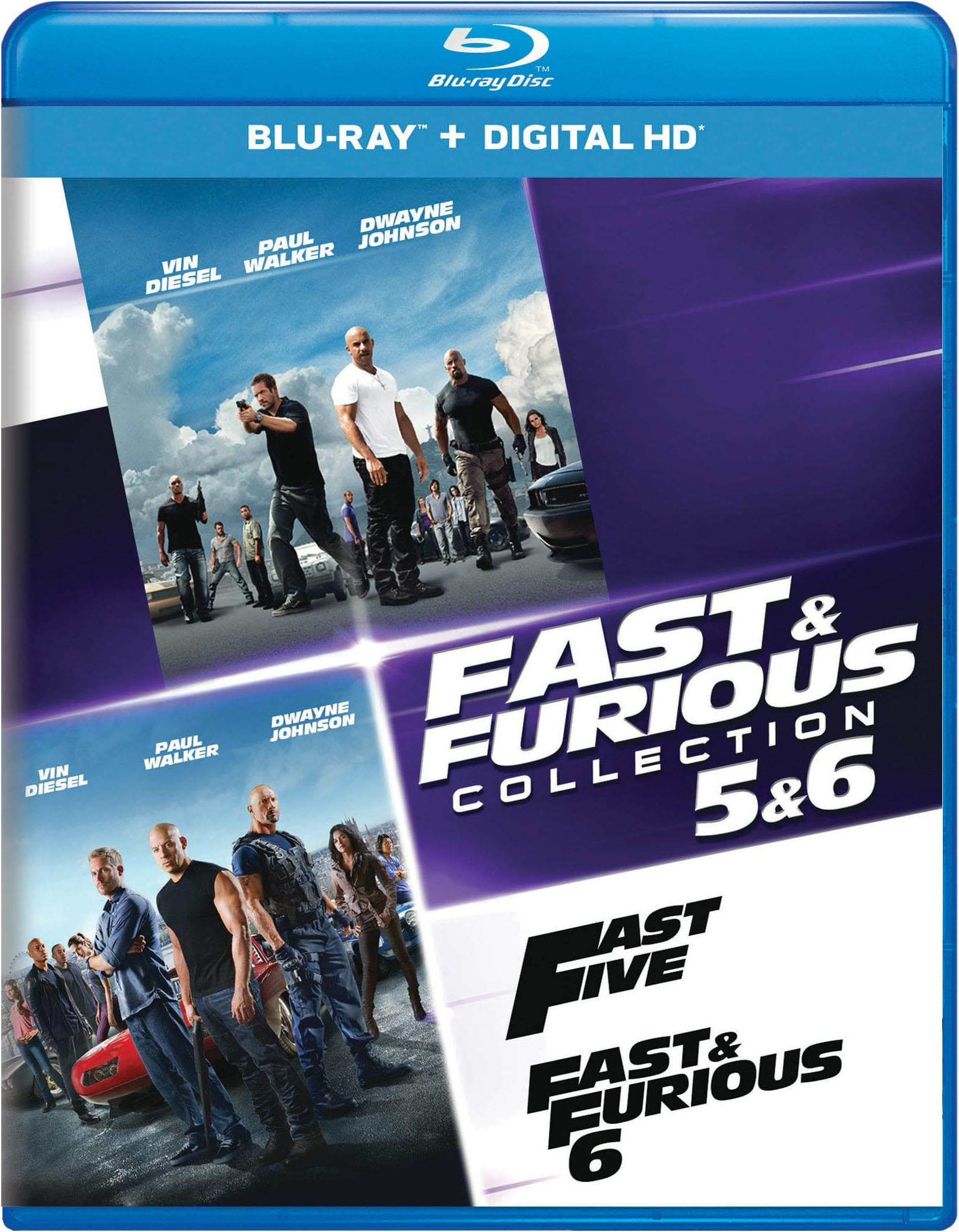 Fast & Furious Collection: 5 & 6 [Blu-ray]