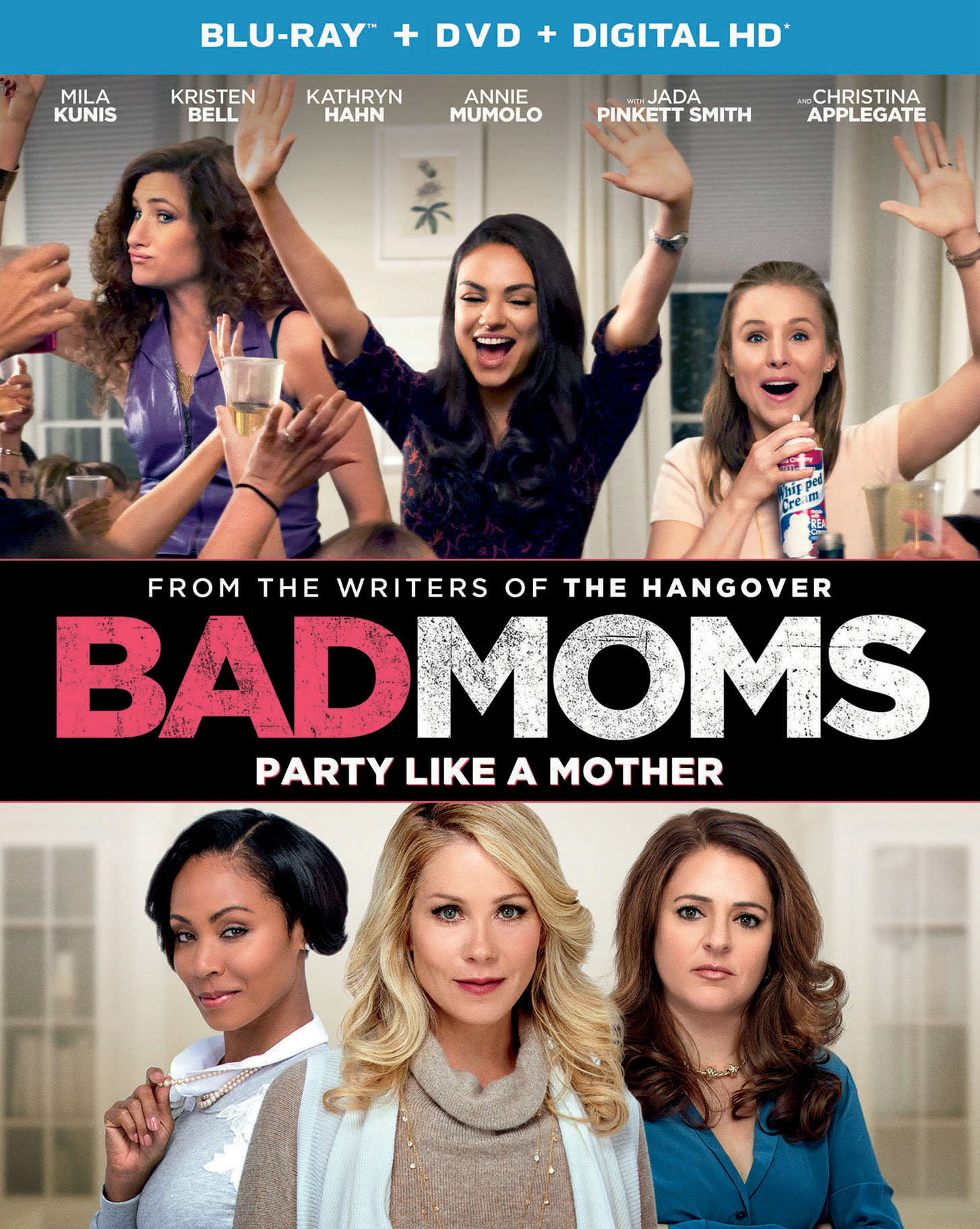 Bad Moms (DVD + Digital) [Blu-ray]