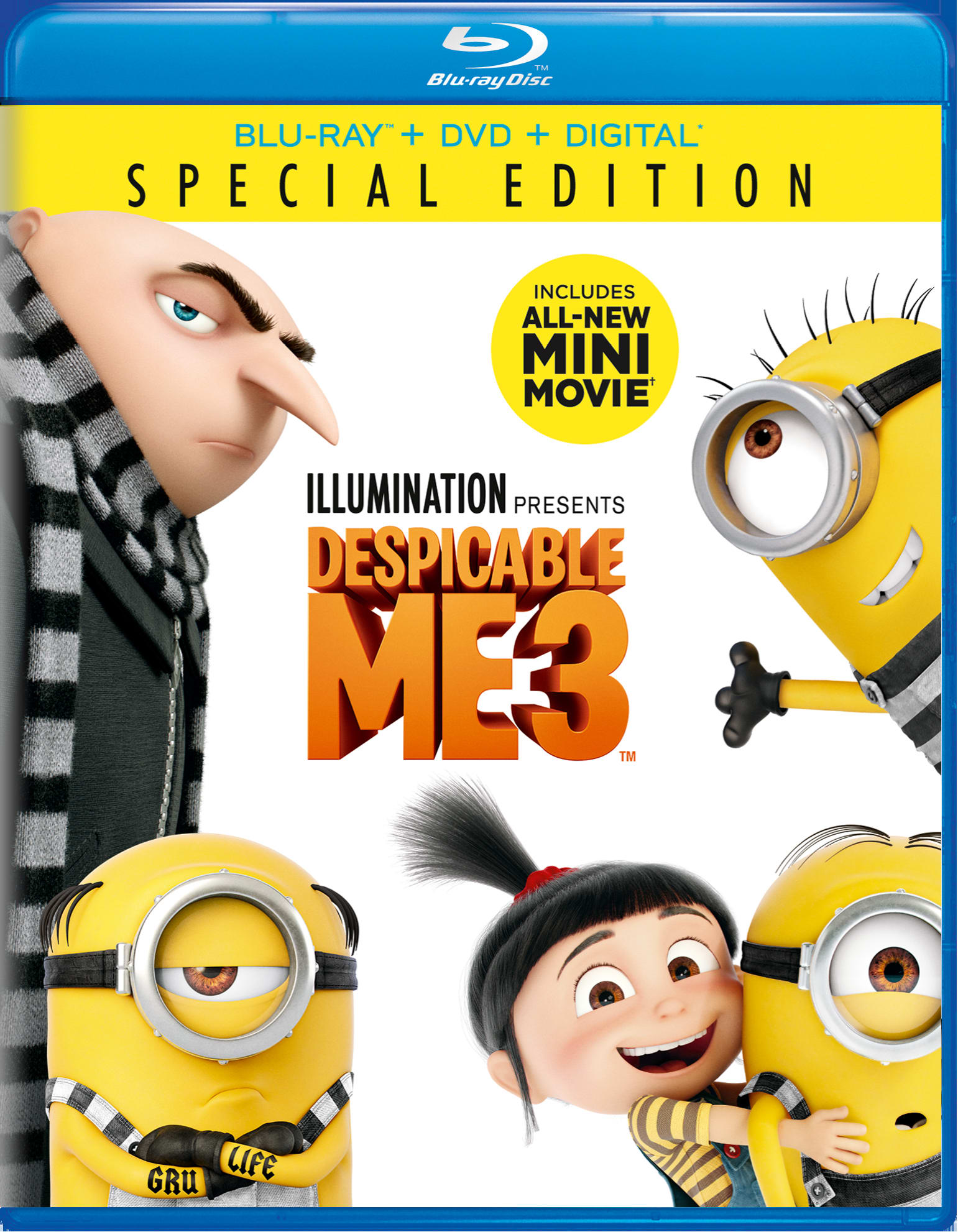 Despicable Me 3 (Special Edition DVD + Digital) [Blu-ray]