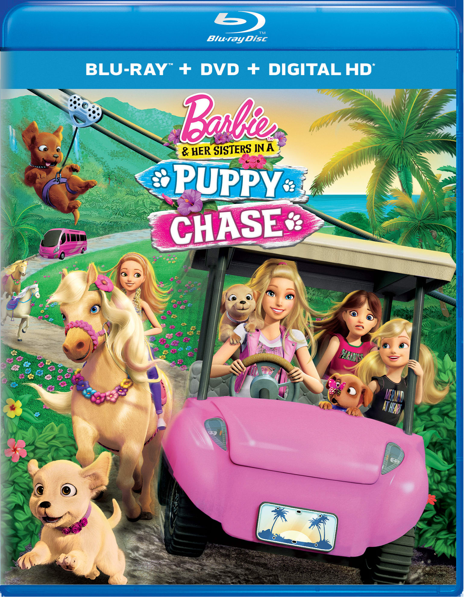 Barbie and Her Sisters in a Puppy Chase (DVD + Digital) [Blu-ray]