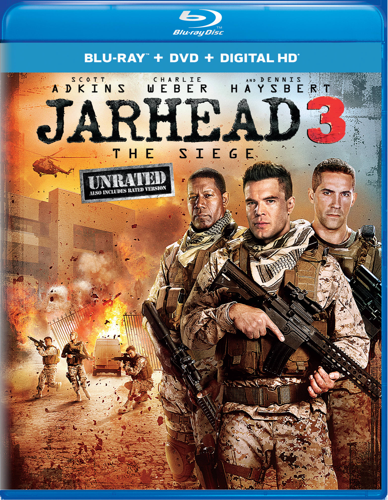 Jarhead 3: The Siege (Unrated Edition DVD + Digital) [Blu-ray]
