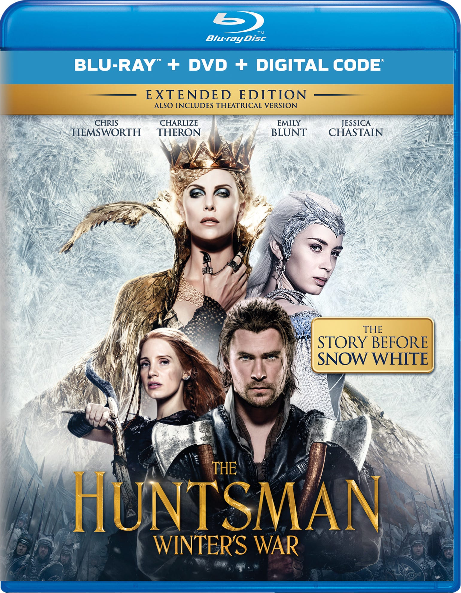 The Huntsman: Winter's War (Extended Edition DVD + Digital) [Blu-ray]