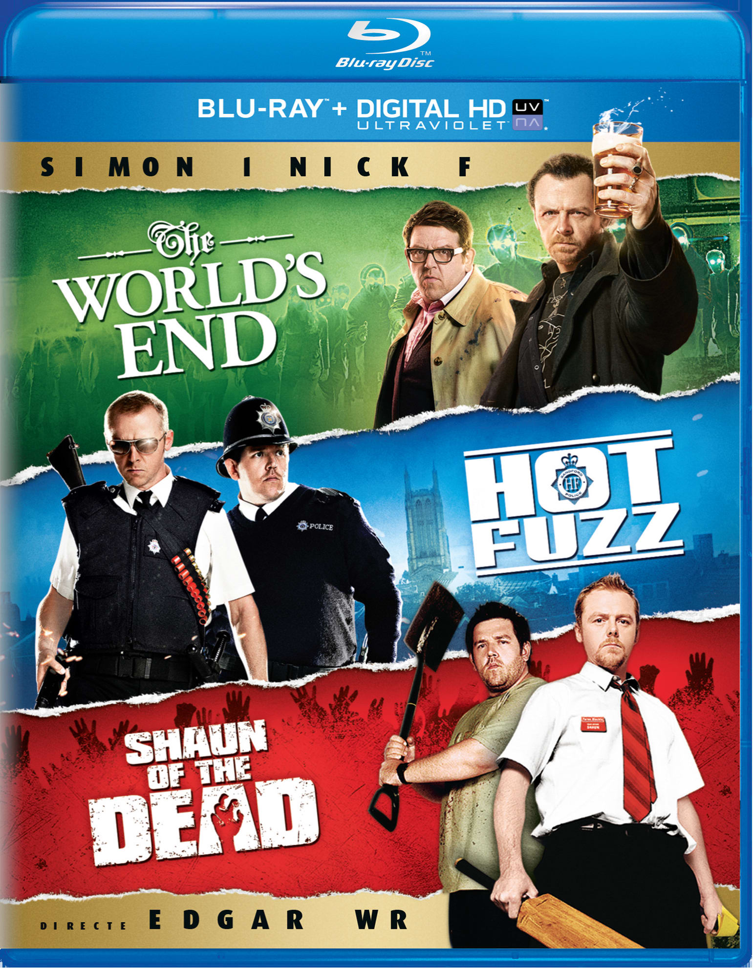 Shaun of the Dead/Hot Fuzz/The World's End [Blu-ray]