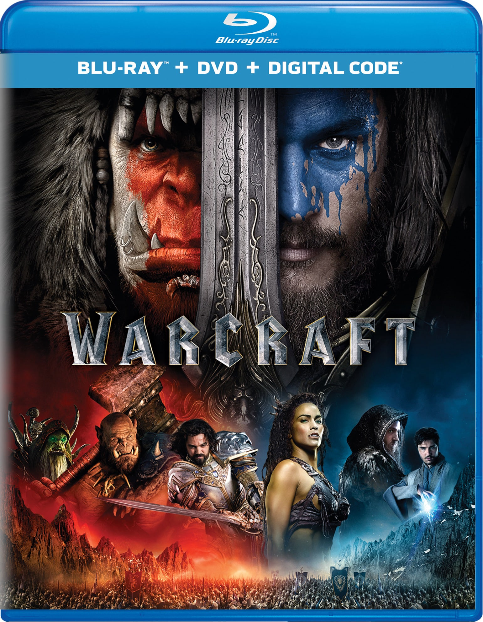 Warcraft: The Beginning (DVD + Digital) [Blu-ray]