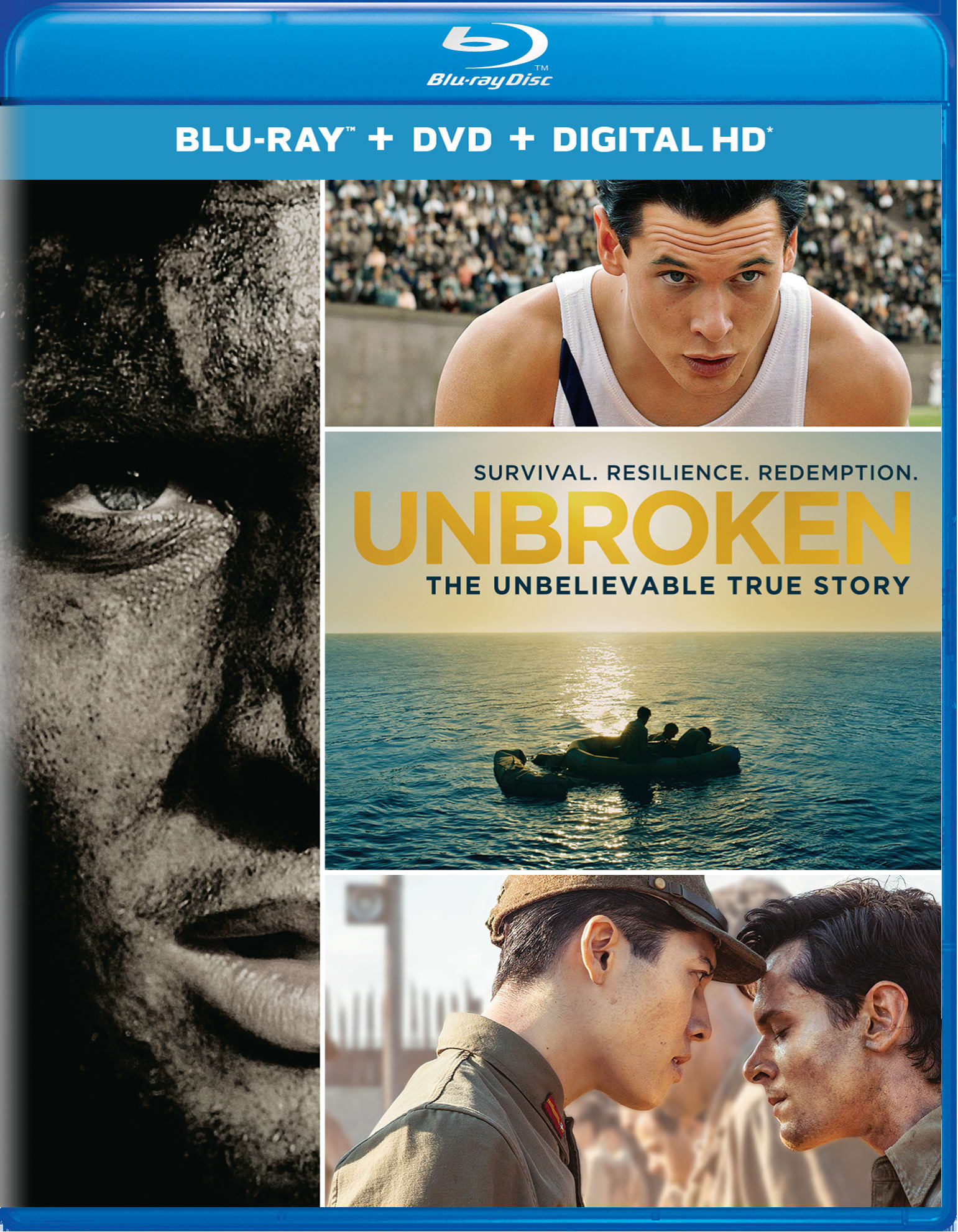 Unbroken (DVD + Digital) [Blu-ray]