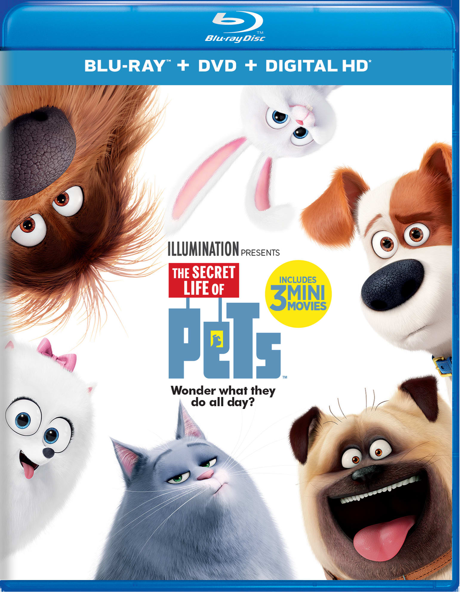 The Secret Life of Pets (DVD + Digital) [Blu-ray]