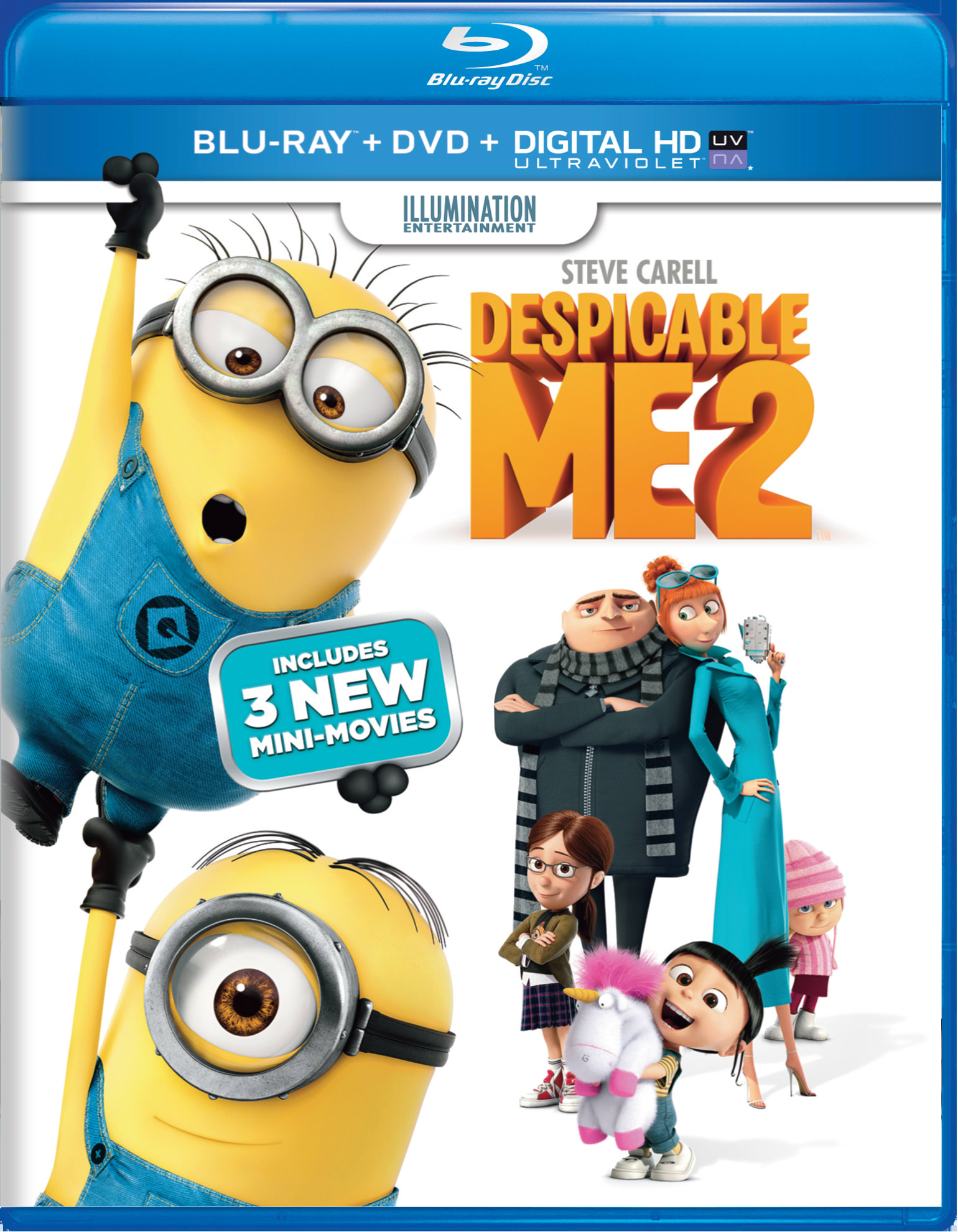 Despicable Me 2 (DVD + Digital) [Blu-ray]