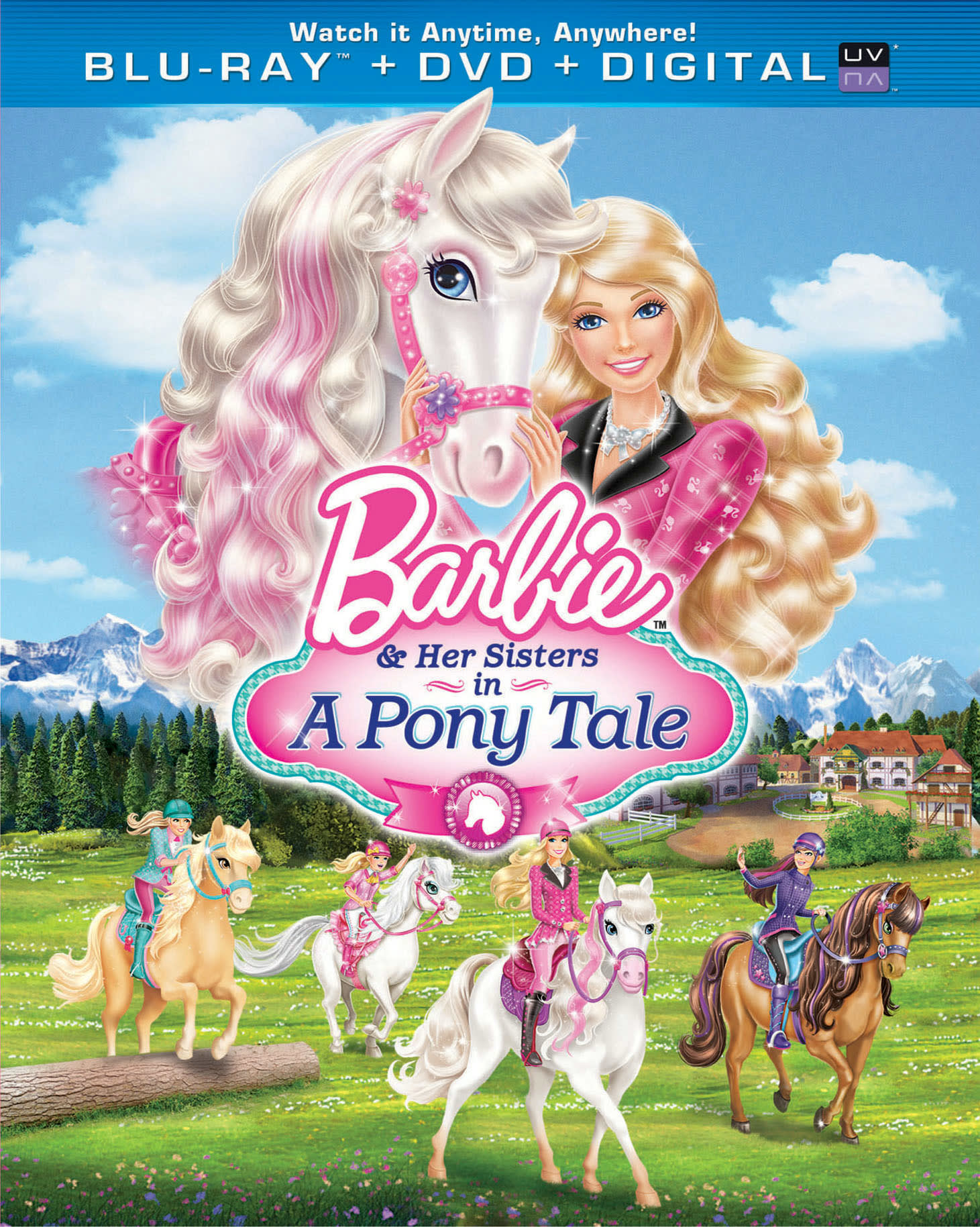 Barbie and Her Sisters in a Pony Tale (DVD + Digital) [Blu-ray]