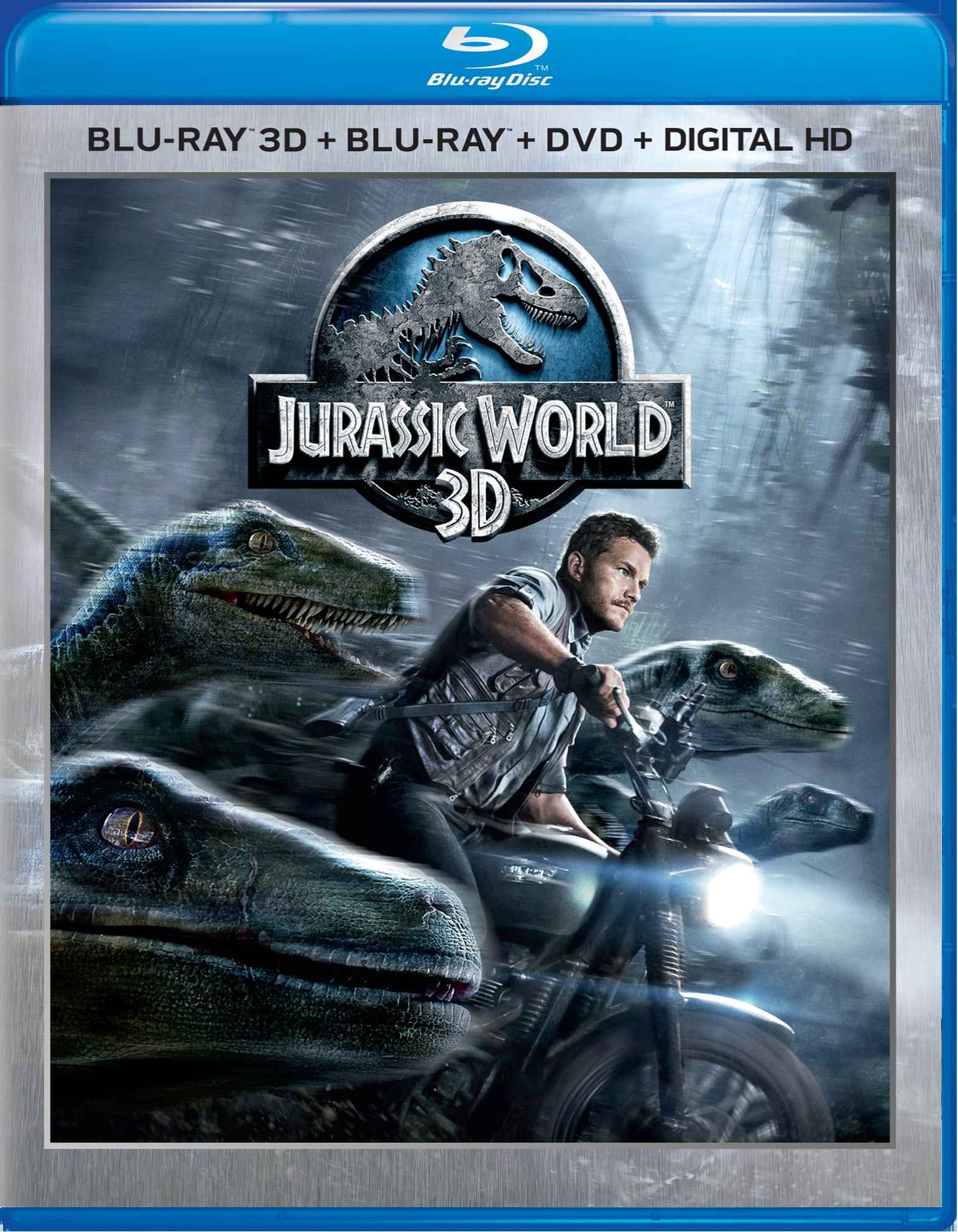 Jurassic World 3D (DVD + Digital) [Blu-ray]