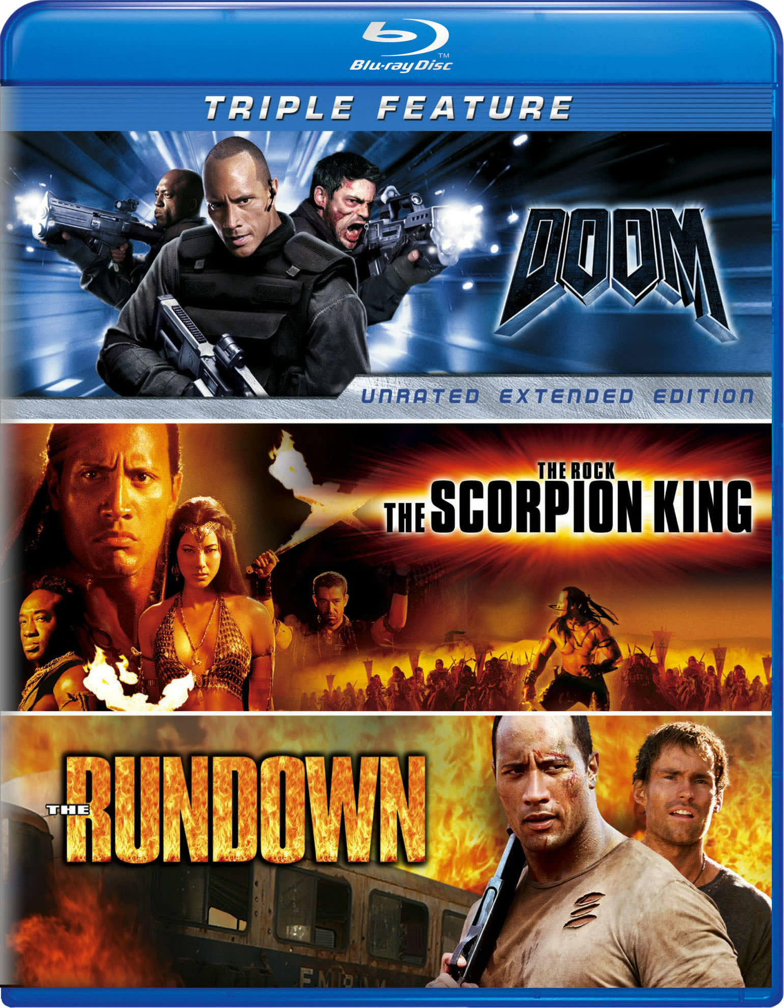 Doom/The Scorpion King/The Rundown [Blu-ray]