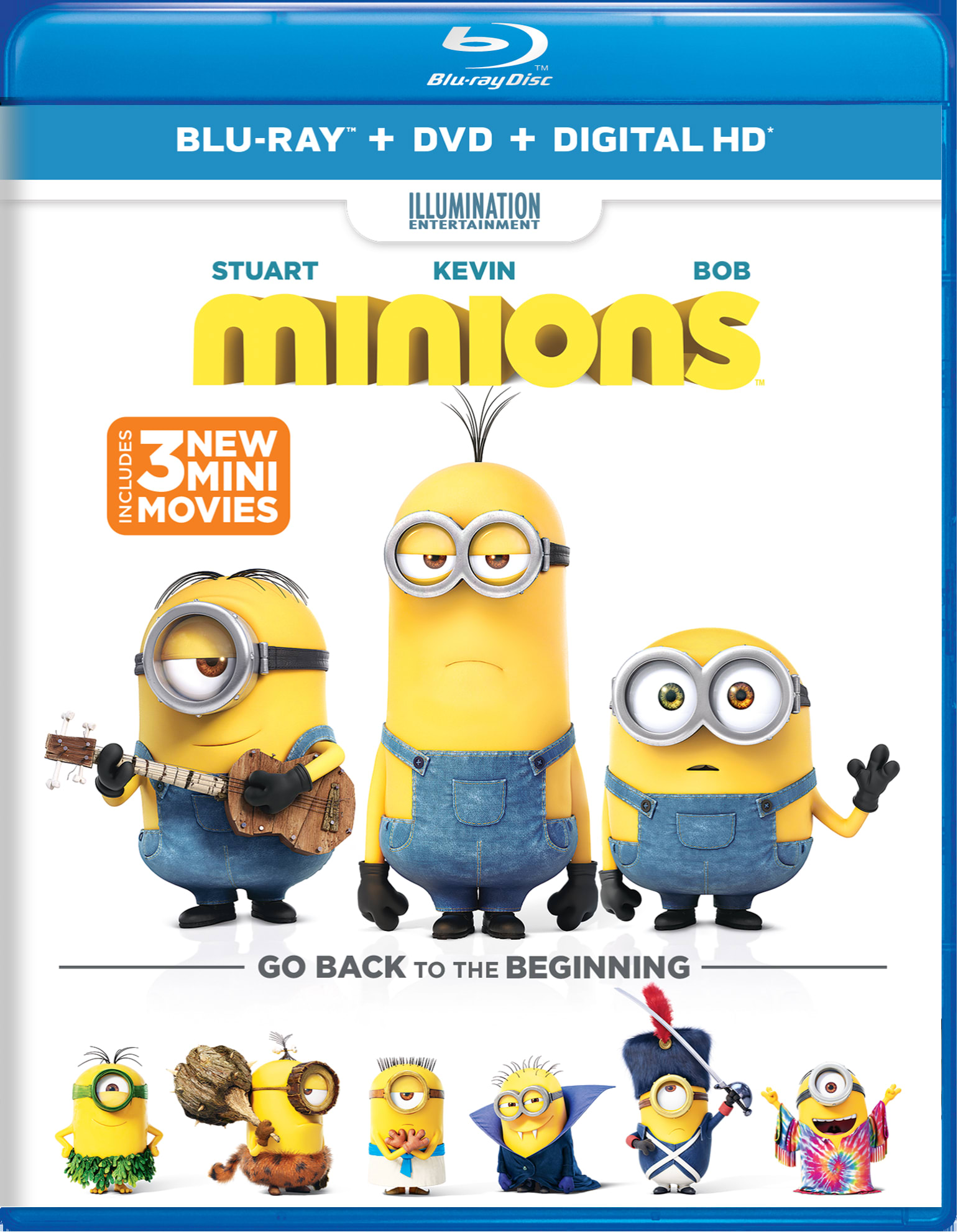 Minions (DVD + Digital) [Blu-ray]