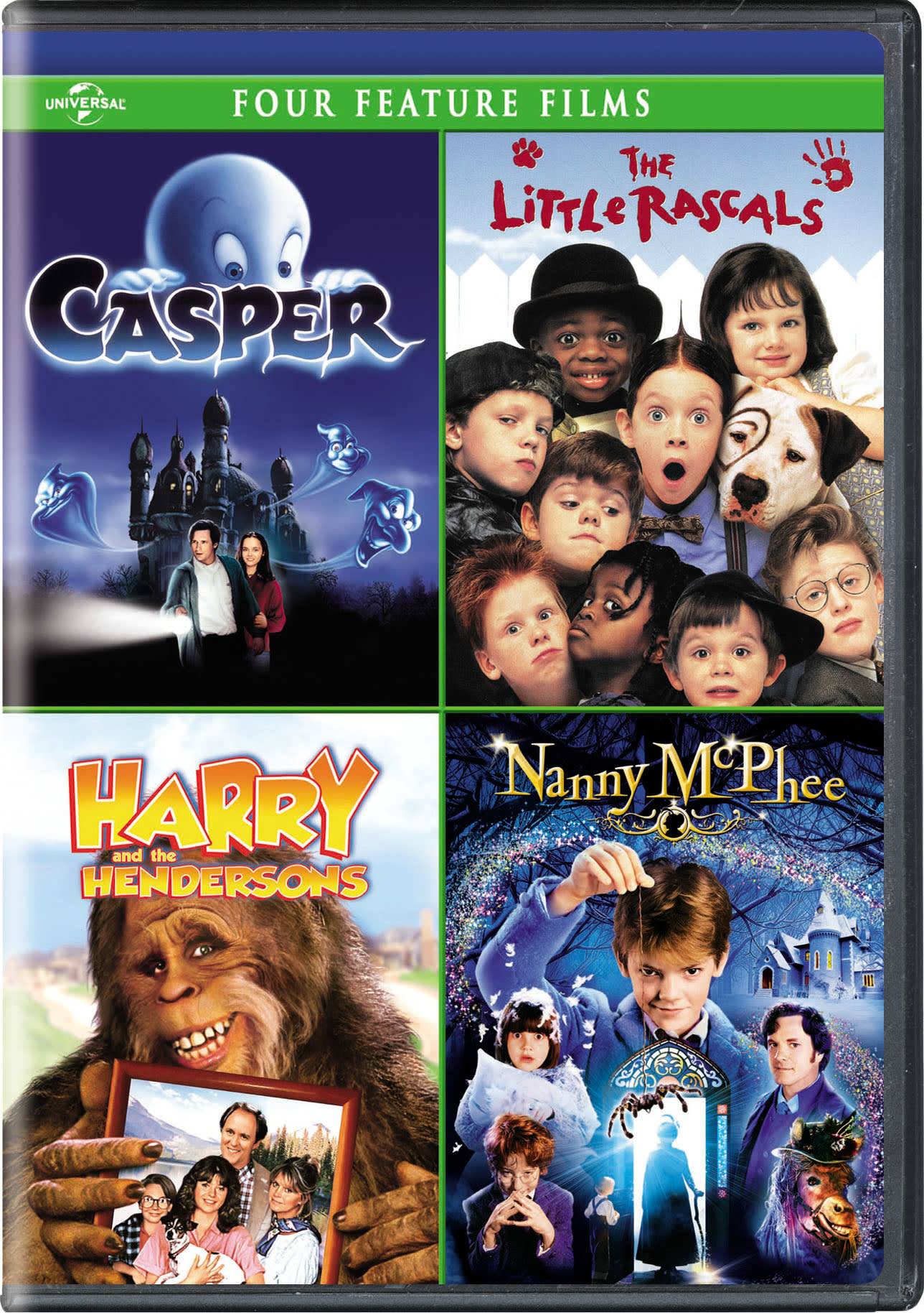Casper/The Little Rascals/Harry and the Hendersons/Nanny McPhee (Box Set) [DVD]